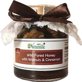 Farm Naturelle Cinnamon Infused Pure Raw Natural Forest and Walnuts Honey
