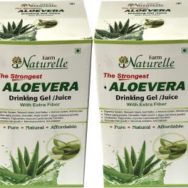 Farm Naturelle The Finest Aloevera Juice with Extra Fiber, 400ml
