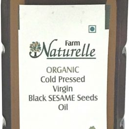 Farm Naturelle Organic Virgin Cold Pressed Black Sesame Seed Cooking Oil