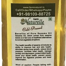 Farm Naturelle Sesame Gingelly Til Cooking Oil