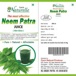 Farm Naturelle Herbal Neem Patra Juice/Ras+The Finest 400 ml Skin Care and Blood Cleaning