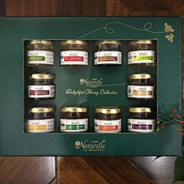 Gifts Pack with 10 Finest Varieties of Honey (40Gms x 10pcs)-Green Pine Colour-with Designer Carry Bag