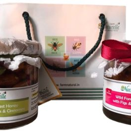 Cinnamon Infused  Delicious Figs (Anjeer) and Almonds(Badaam)-250 GMS x 2 Glass Bottles-Corporate Gift Pack in Paper  Bag .