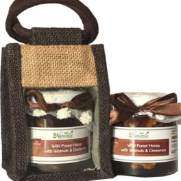 Cinnamon Infused  Walnut -250 Gms  Glass Bottles- Gift Pack in Jute Bag .