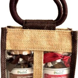 Cinnamon Infused Walnut (Akhrot) and Figs(Anjeer)-250 GMS x 2 Glass Bottles-Corporate Gift Pack in Jute Bag
